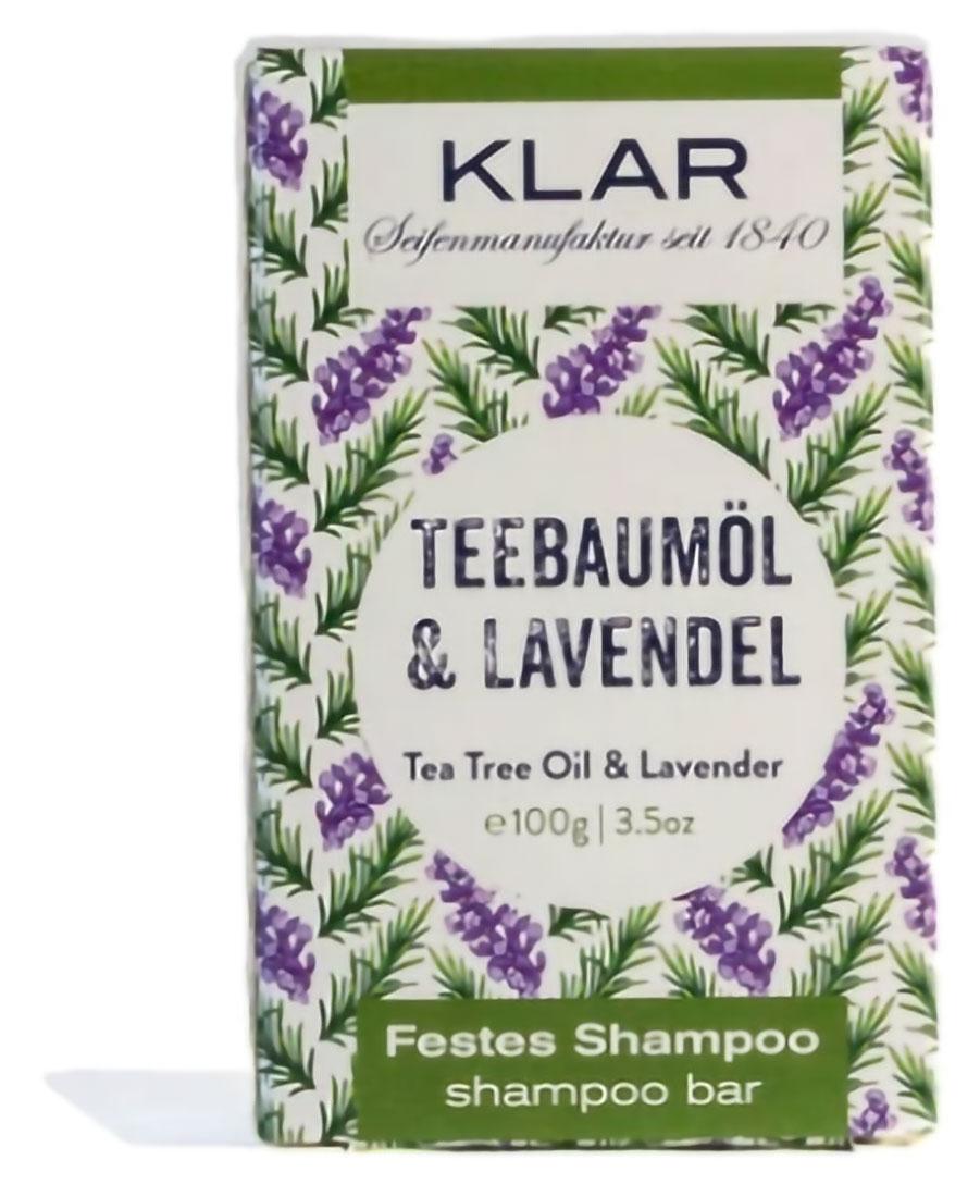 Klar Seifen Teebaumöl & Lavendel Vorderseite