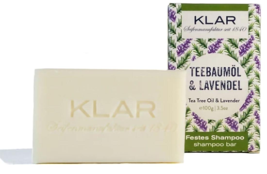 Klar Seifen Festes Shampoo Teebaumöl & Lavendel komplett