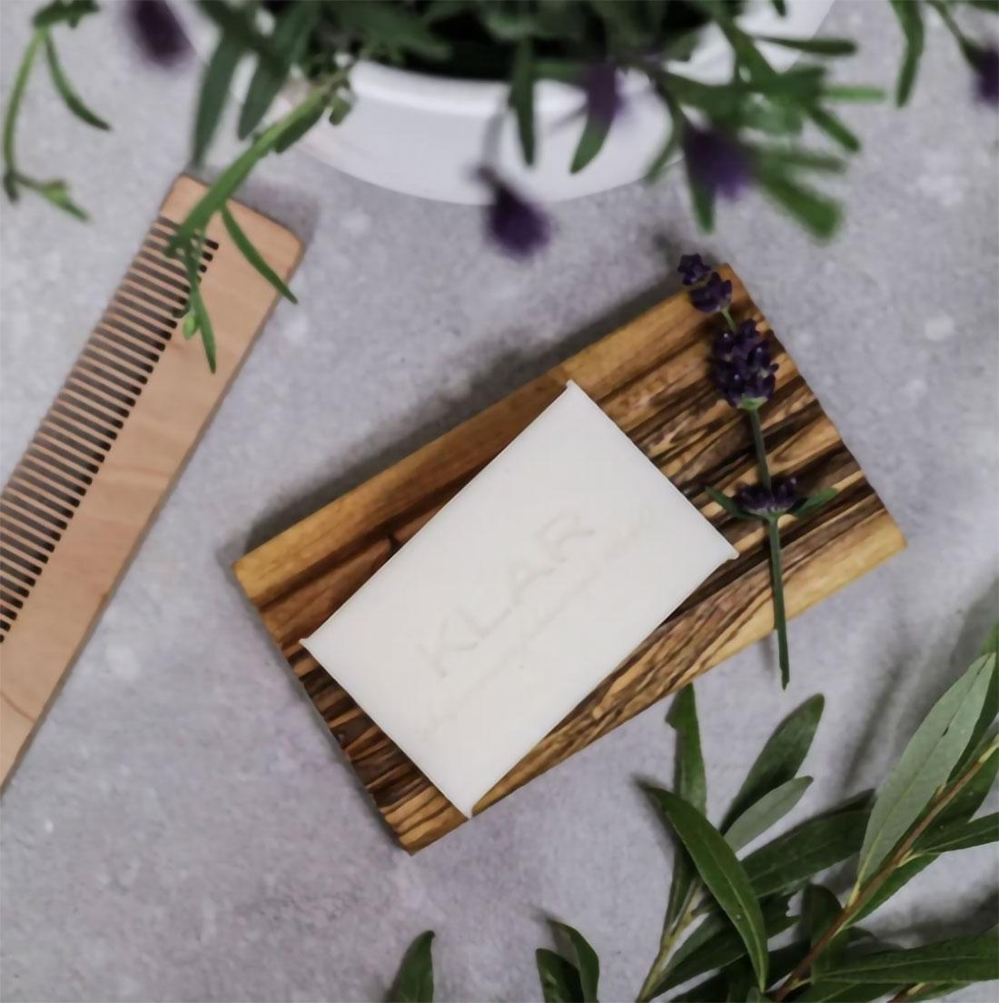 Festes Shampoo Teebaumöl & Lavendel, 100g (für trockenes Haar), 100gr Vegan hergestellt in Deutschland