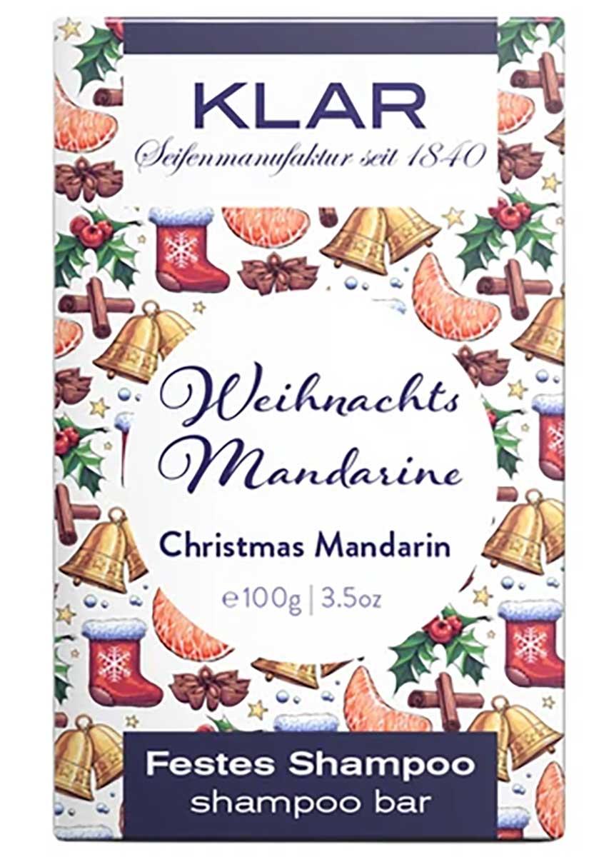 Festes Shampoo Weihnachtsmandarine, 100g, Vegan hergestellt in Deutschland