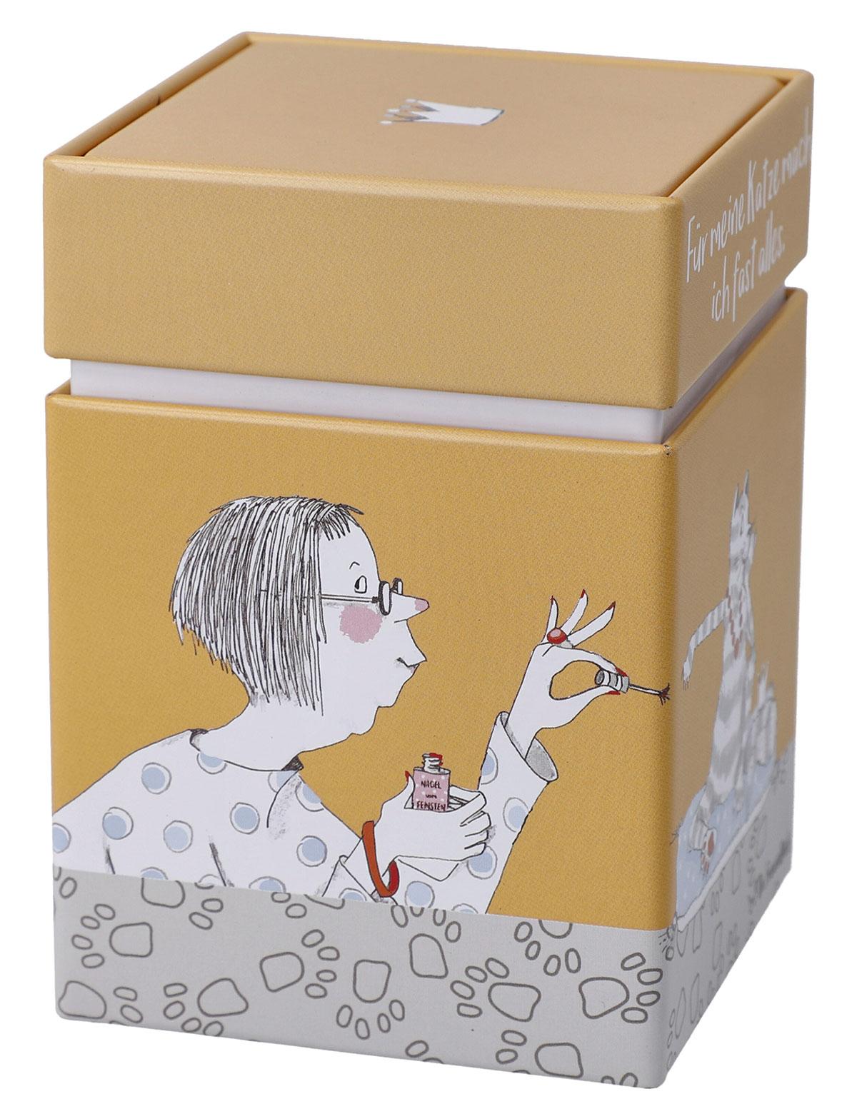 Als Mitbringsel oder einfach nur um einem lieben Menschen Danke zu sagen, eignen sich hervorragend kleine, schöne Dinge, die im alltäglichen Gebrauch Verwendung finden. Die Dose eignet sich auch hervorragend zur Aufbewahrung von Tee!
