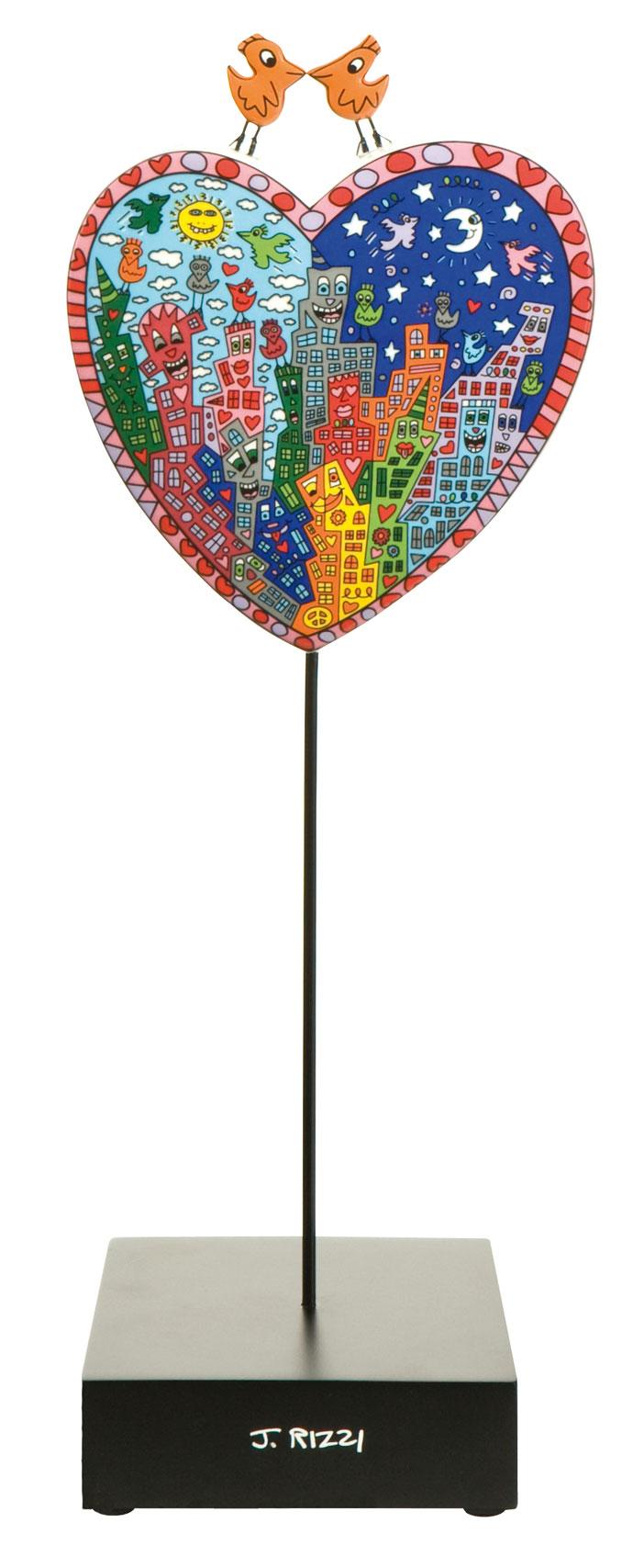 Goebel Pop Art Its Heart Not to Love My City Rizzi James 26101531 Skulptur Love Birds