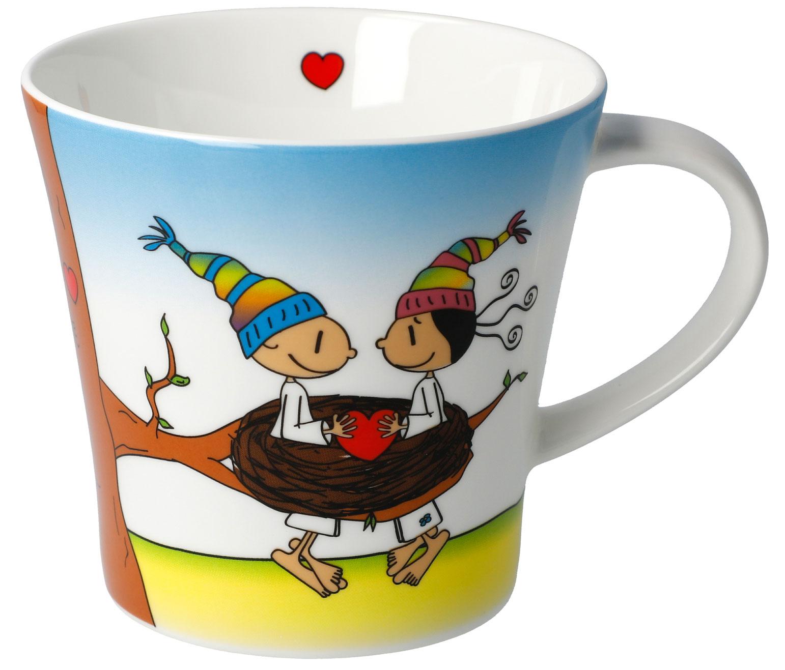 Göbel Der kleine Yogi Glück ist Zeit Kaffeetasse Künstlertasse 54101881