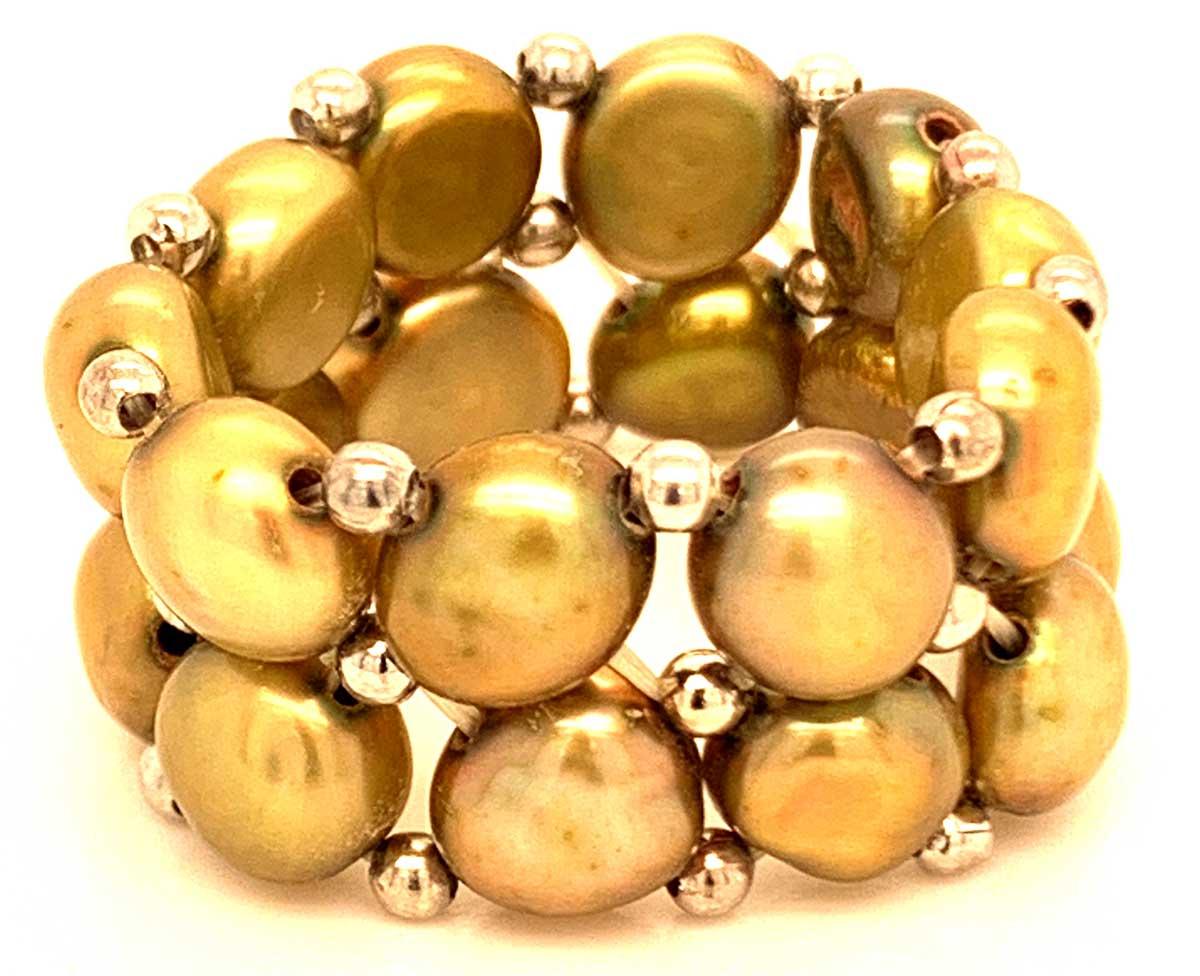 Perlenring Echte Zuchtperlen 2-Reihig