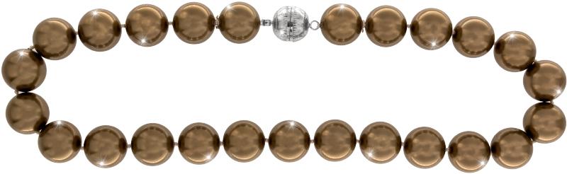 Perlmutt Kette Kupfer 45cm ca.16mm Collier Halskette Mother-of-Pearl MOP10