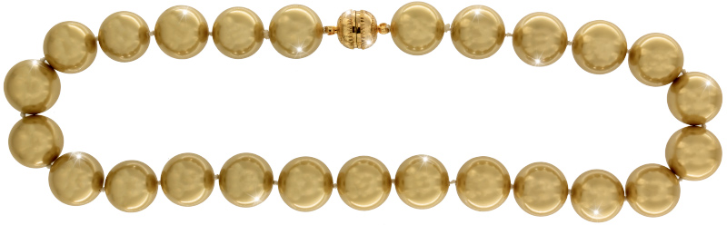 Perlmutt Kette Gold 45cm ca.16mm Collier Halskette Mother-of-Pearl MOP11