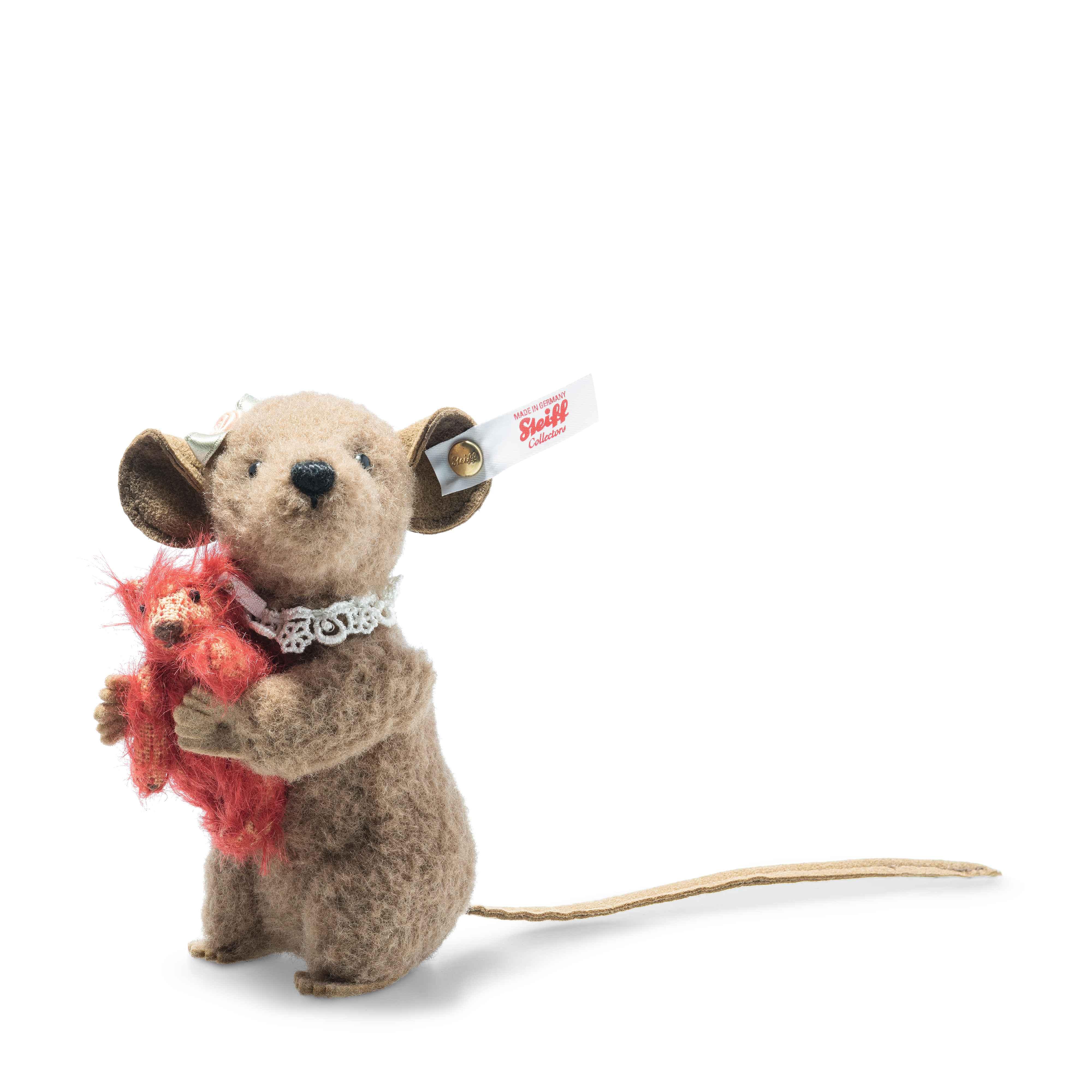 Steiff 006142 Xenia Maus 11 braun mit Teddybär limitierter Sammlerartikel