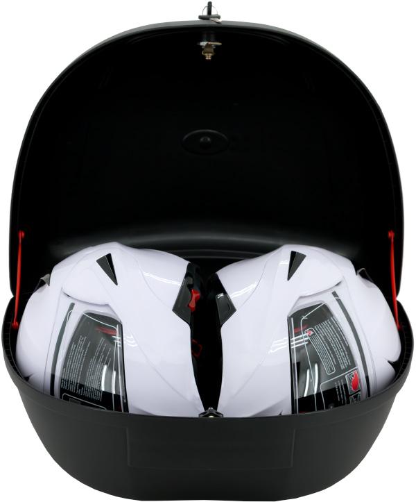 Razory grosses TopCase K48 TopCase für 2 Helme befüllt mit einem Helm