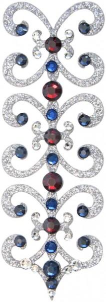 Florence 8 Silber-Türkis-Rot 1016027DE Körperschmuck Swarovski Crystal Türkis Rot