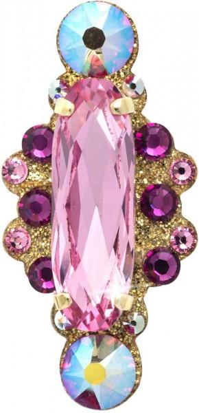 Angelina 2 Gold-Hellrosa 1016021DE Körperschmuck Swarovski Crystal Pink