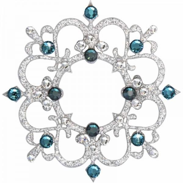 Rome 6 Silber-Grün 1016036DE Körperschmuck Swarovski Crystall Grün