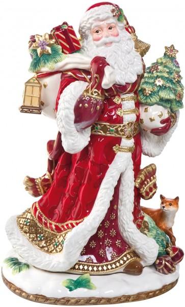 Fitz & Floyd Figur Santa mit Geschenken 48cm 51000411 Handarbeit Einzigartiges Sammlerstück