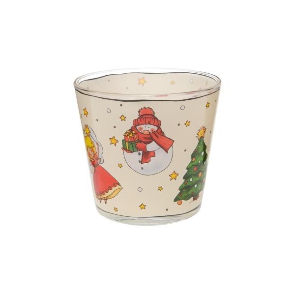 Teelicht I Love Christmas grau I Love Christmas Goebel 37000251