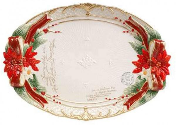 Fitz & Floyd Schale Weihnachtsstern Gobel 51000921 Handarbeit Einzigartiges Sammlerstück