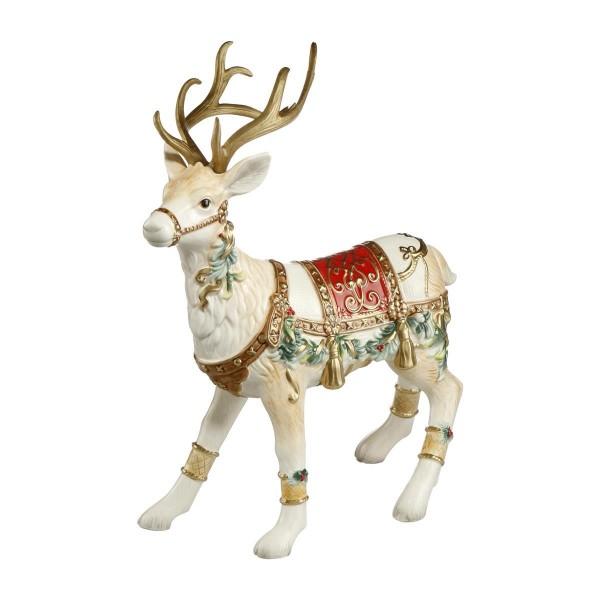 Goebel Fitz und Floyd Weihnachten Rentier Dekofigur bunt (Rentier mit Beinschmuck) 51001251