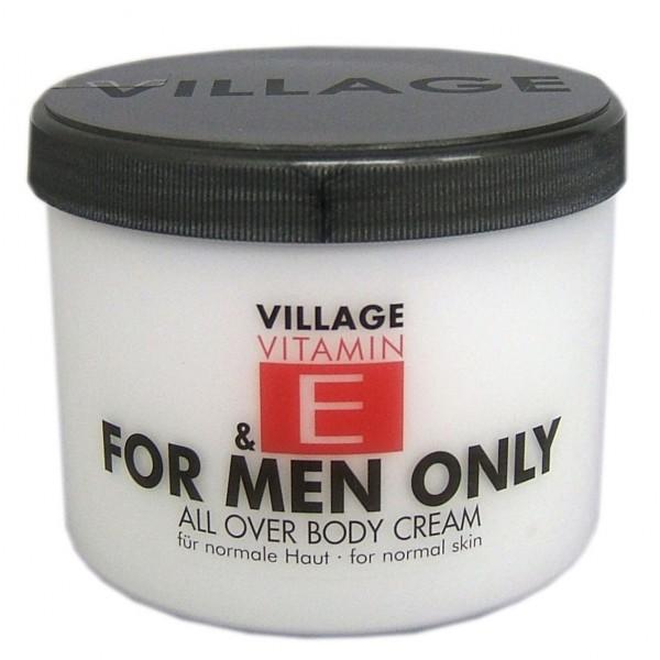 Village For Men Only Body Cream mit Vitamin E, 1er Pack (1 x 500 ml) Körperlotion 9506-17