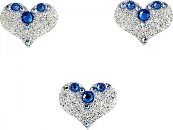 Love 4 Silber-Hellblau 1016050DE Körperschmuck Swarovski Crystal Blue