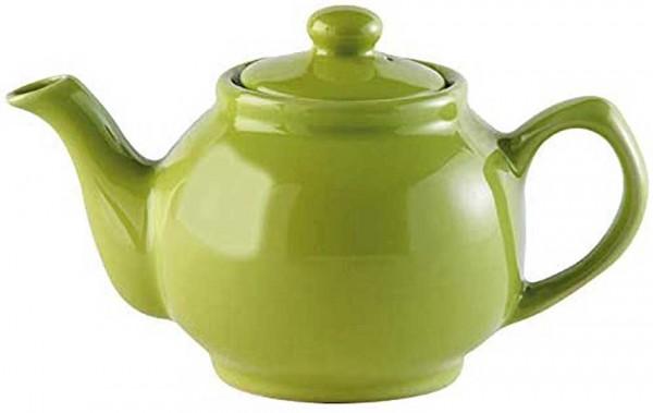 Price & Kensington 2 Tassen Teekanne Steingut, grün, glänzend 0056.748