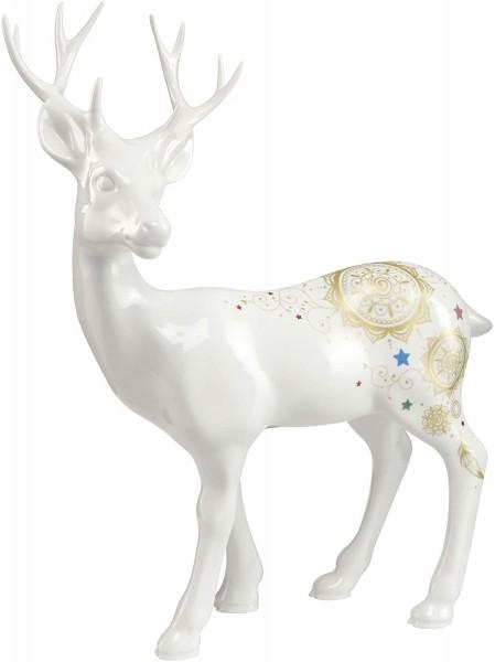 Goebel Mandala Hirsch stehend 37005051 Handarbeit Porzellan Echtgolddekor