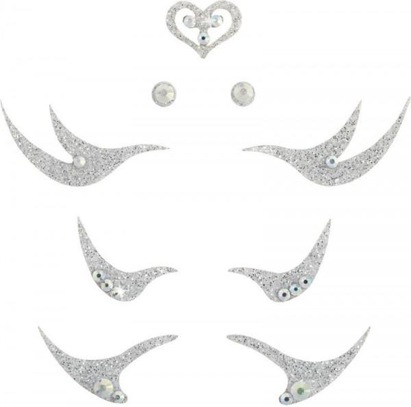 Glamour 2 Silber-Kristall AB 1016063DE Körperschmuck Swarovski Crystal