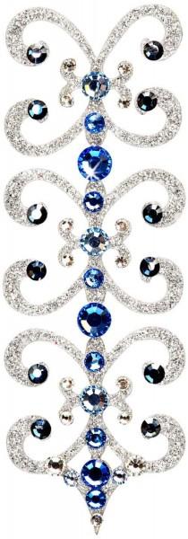 Florence 5 Silber-Blau 1016011DE Körperschmuck Swarovski Crystall Blau