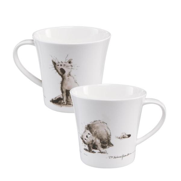 Katzenjammer - Coffee-/Tea Mug schwarz-weiß Peter Schnellhardt Goebel 26500131