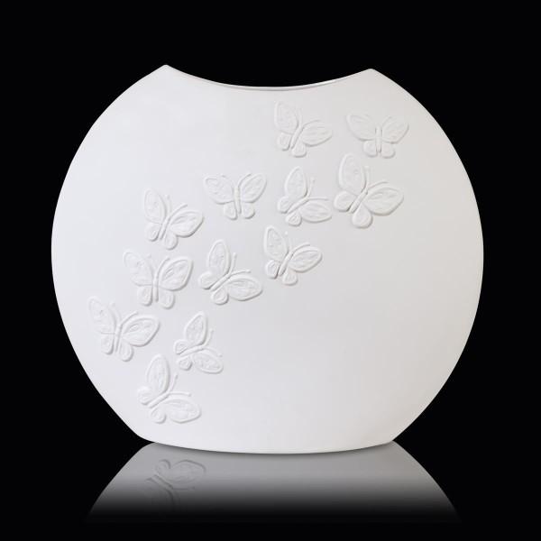 Vase 30 cm - Papillon weiß Papillon, biskuit Goebel 14003081