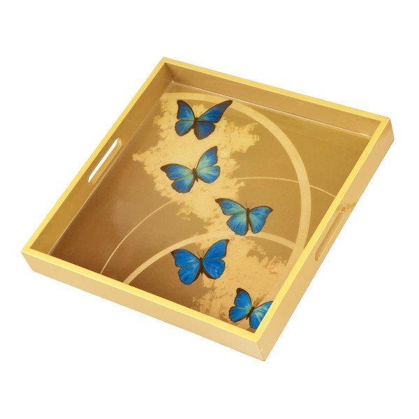 Blue Butterflies - Tablett Bunt Joanna Charlotte Goebel 26150551