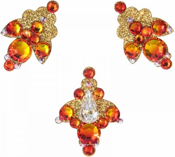 Venice 4 Gold-Orange 1016038DE Körperschmuck Swarovski Crystal Orange