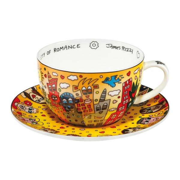 Goebel James Rizzi City of Romance Jumbo Tasse Teetasse Cappuccinotasse Tasse mit Untertasse 2610247