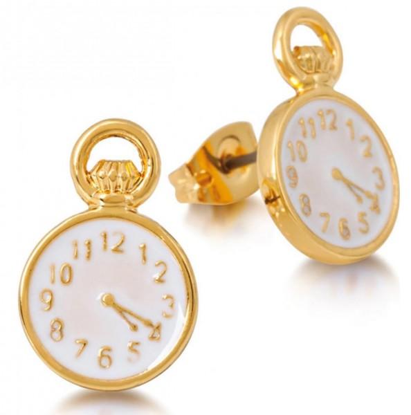 Goebel Taschenuhr - Disney Ohrstecker Gold Couture Kingdom Alice im Wunderland 12100301