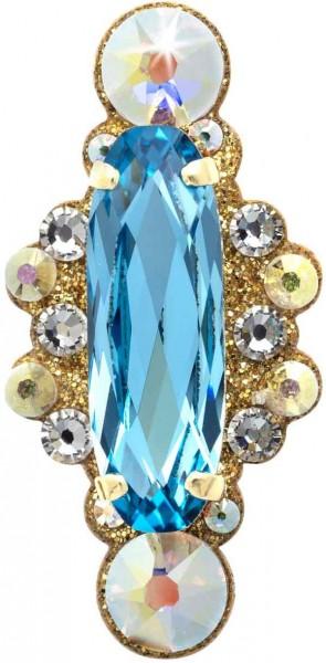Angelina 4 Gold-Aquamarin 1016028DE Körperschmuck Swarovski Crystal