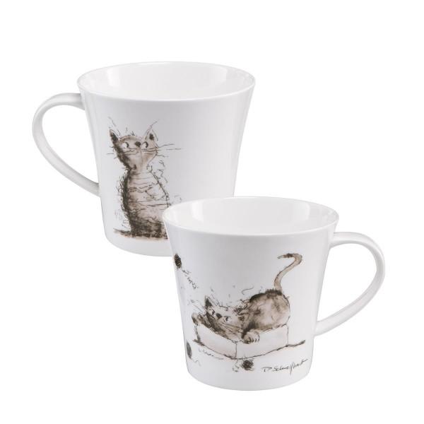 Spielstunde - Coffee-/Tea Mug schwarz-weiß Peter Schnellhardt Goebel 26500151