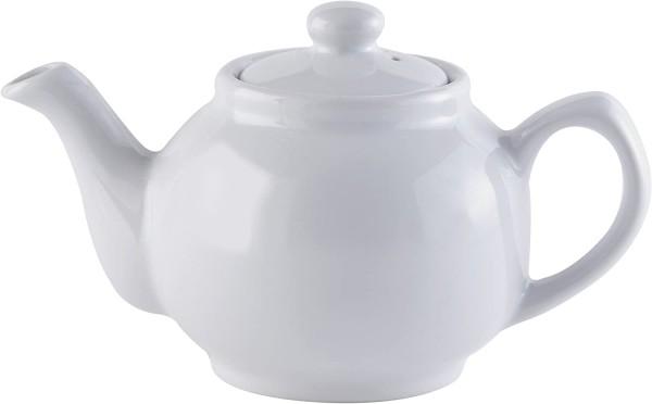 Price & Kensington, 2 Tassen englische Teekanne, Steingut, weiß, klassisch 0056.716