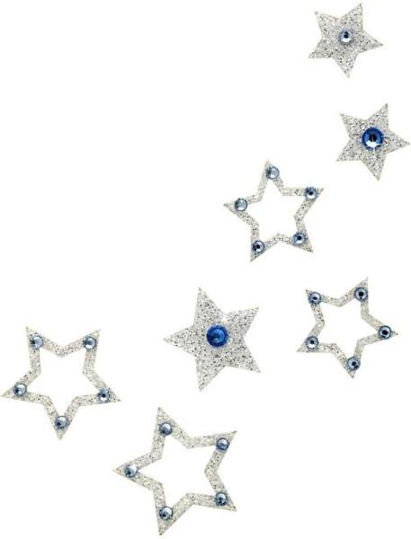 Fame 4 Silber-Hellblau 1016055DE Körperschmuck Swarovski Crystal Blue