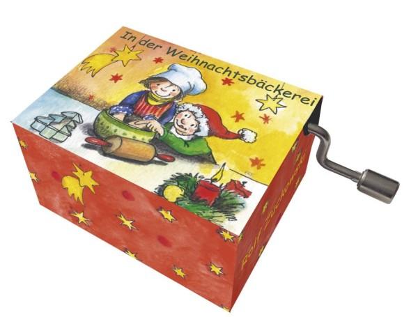 Mini-Drehorgel-Rolf Zuckowski -Spieluhr mit Resonanzboden In der Weihnachtsbäckerei 58328