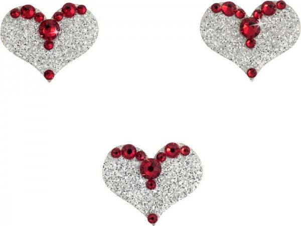Love 6 Silber-Rot 1016078DE Körperschmuck Swarovski Crystal Red