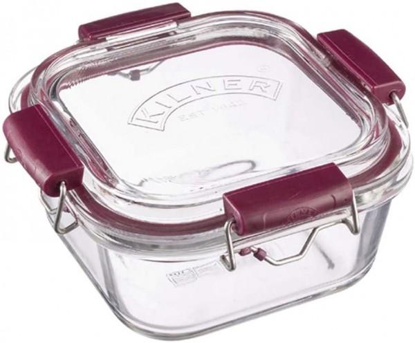Kilner Frischhaltedose aus Borosilikatglas mit auslaufsicherem Clipverschluss-System, BPA-frei, back