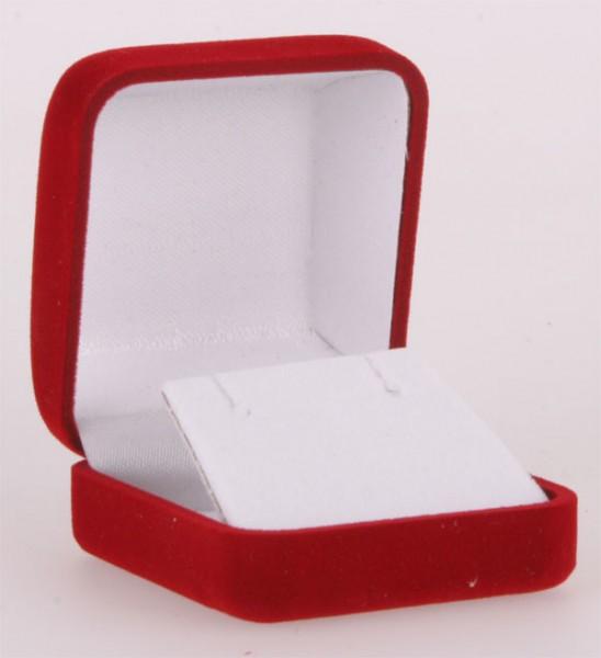 Geschenkbox Rot für Ohrringe Hänger und Stecker