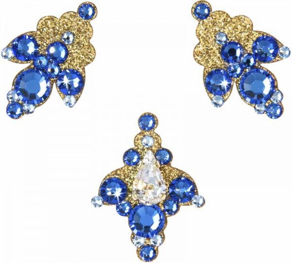 Venice 5 Gold-Blau 1016039DE Körperschmuck Swarovski Crystal Blau