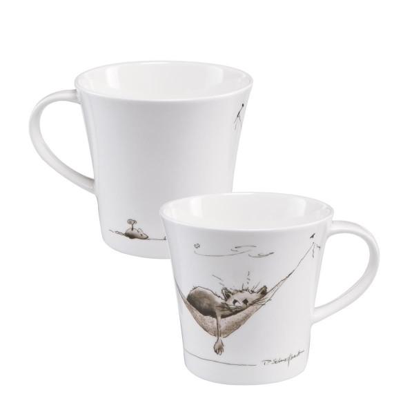 Mittagspäuschen - Coffee-/Tea Mug schwarz-weiß Peter Schnellhardt Goebel 26500121