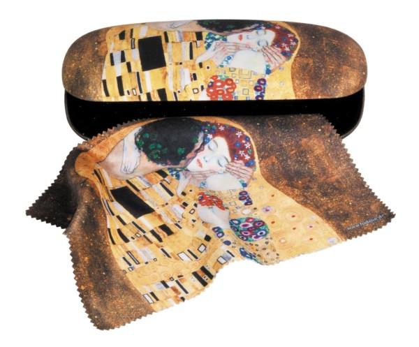 Set Brillenetui und Brillenputztuch Gustav Klimt Der Kuss von Fridolin 12521
