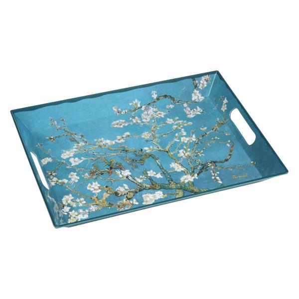 Mandelbaum Blau - Tablett Bunt Vincent van Gogh Goebel 67017551