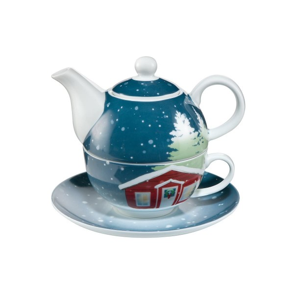 Christmas at Home - Tea for One Bunt Scandic Home Wohnaccessoires Goebel 23100381