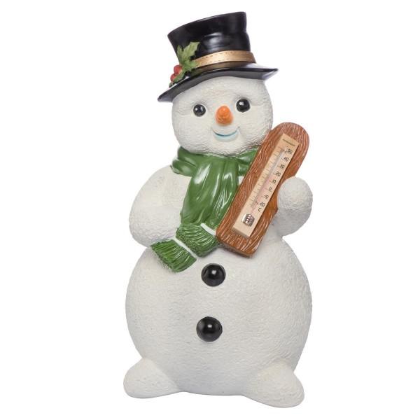 Frostiger Winter - mit Thermometer braun Schneemänner Goebel 66702401