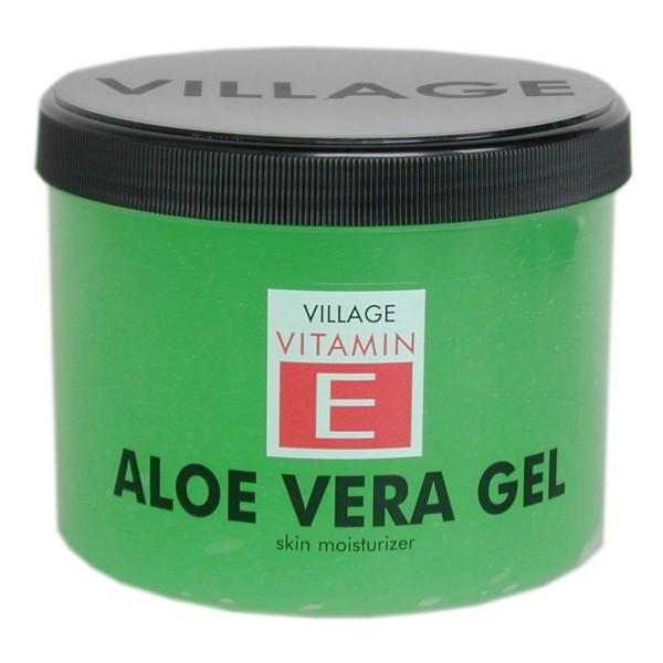 Village 9509-01 Aloe Vera Body Gel kühlend mit Vitamin E, 1er Pack (1 x 500 ml)