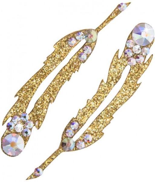 Hope 3 Gold-Kristall AB 1016029DE Körperschmuck Swarovski Crystal Weiß AB
