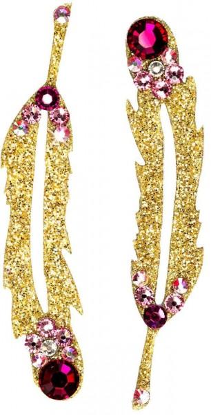 Hope 1 Gold-Rosa 1016001DE Körperschmuck Swarovski Crystal Pink