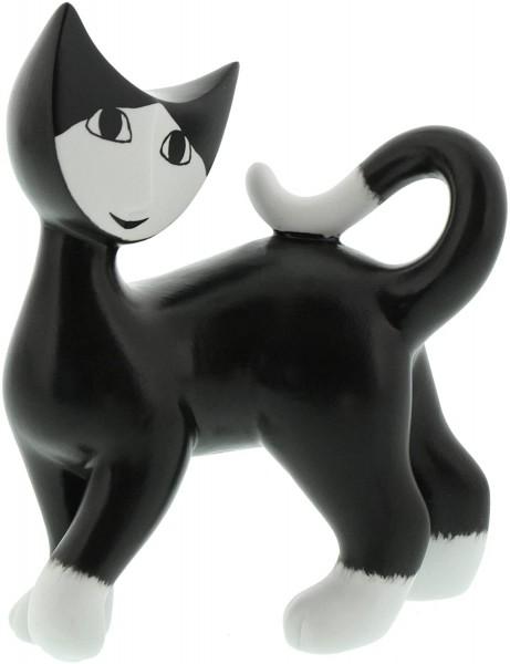 Goebel Porzellan-Katze, Rosina Wachtmeister, Delfina, Höhe: 12 cm, Schwarz und Weiß, 31335021