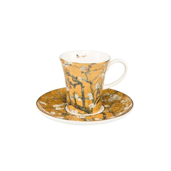 Mandelbaum Gold - Espressotasse Silber Vincent van Gogh Goebel 67011571